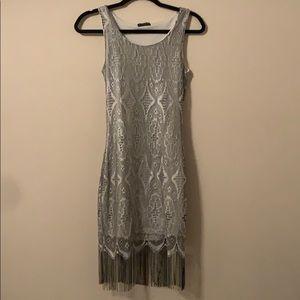 Gray cocktail dress